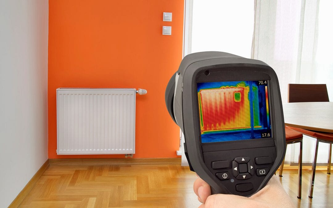 thermal imaging in home inspection detects areas of heat differences